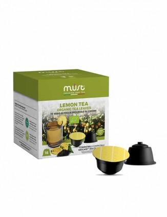 Melnā tēja kapsulās Lemon tea, Dolce Gusto aparātiem.